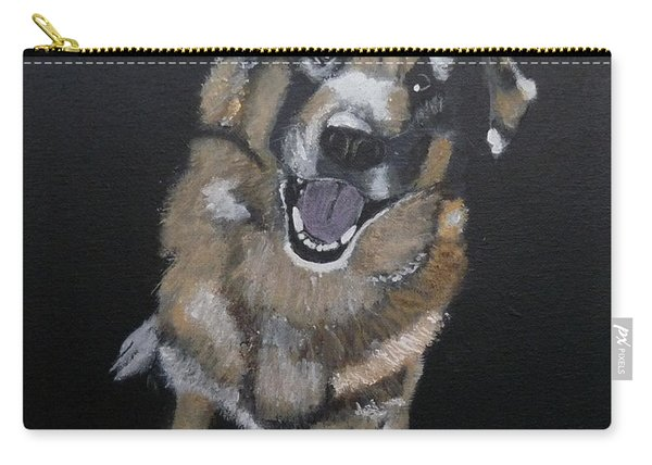 Carry-all Pouch featuring the painting What's Up by Richard Le Page