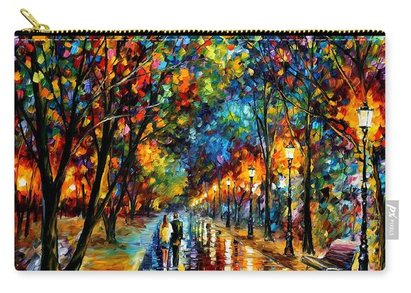 When Dreams Come True - Palette Knlfe Landscape Park Oil Painting On Canvas By Leonid Afremov Carry-all Pouch