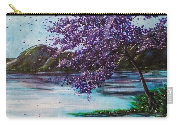 Carry-all Pouch featuring the painting Whispers Of Wishes by Joel Tesch