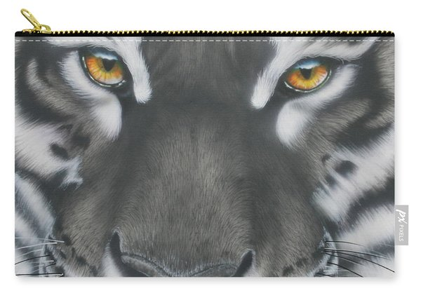 White And Black Tiger Carry-all Pouch