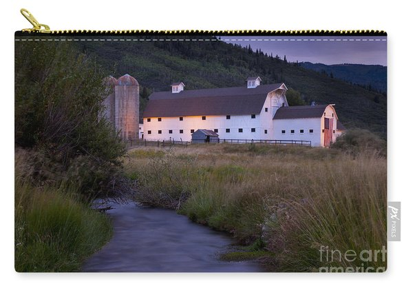 Carry-all Pouch featuring the photograph White Barn by Brian Jannsen