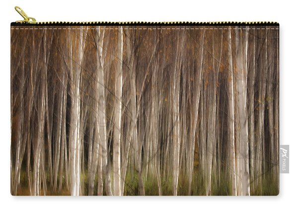 White Birch Abstract Carry-all Pouch