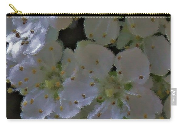White Blooms Carry-all Pouch