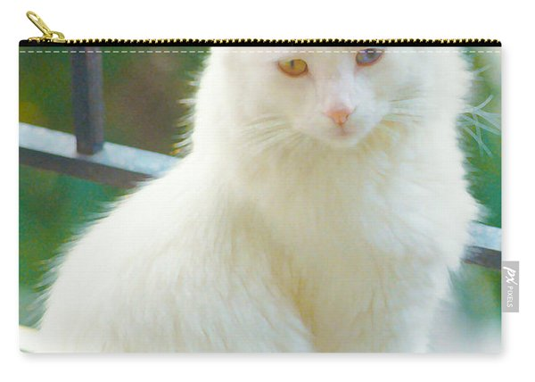 White Cat Carry-all Pouch