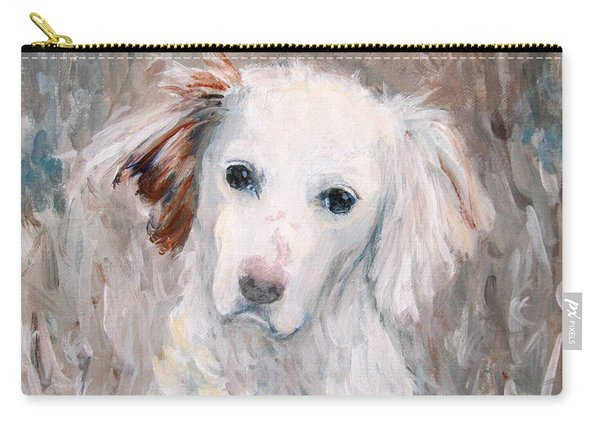 White Dog # 2 Carry-all Pouch