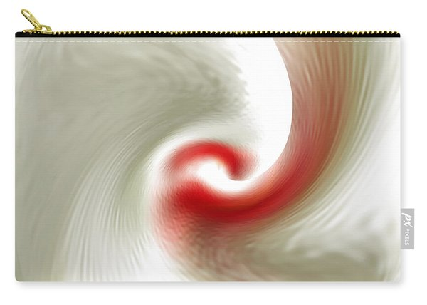 White Flower Abstraction Carry-all Pouch