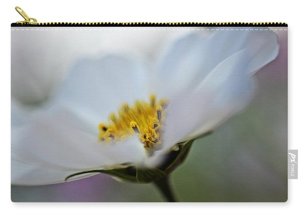 White Flower - Fine Art Macro Photography Carry-all Pouch
