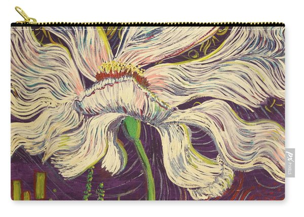 White Flower Series 6 Carry-all Pouch