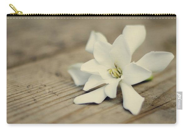 White Gardenia Carry-all Pouch