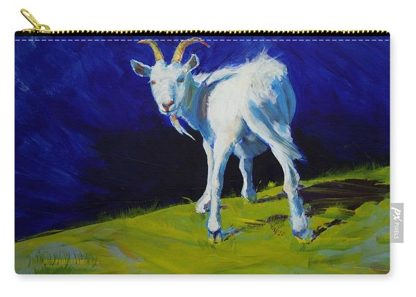 White Goat Painting Carry-all Pouch