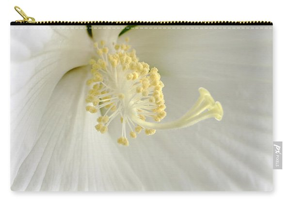 White Hibiscus Flower Marco Carry-all Pouch