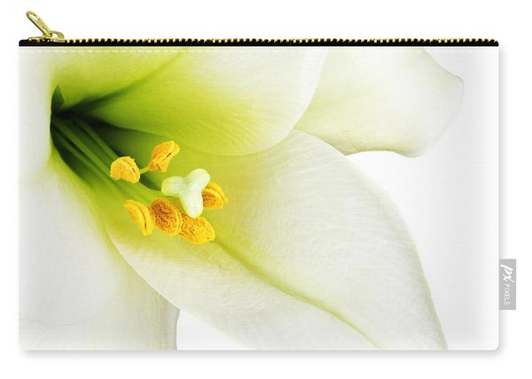 White Lilly Macro Carry-all Pouch