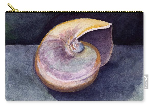 White Nautilus Carry-all Pouch