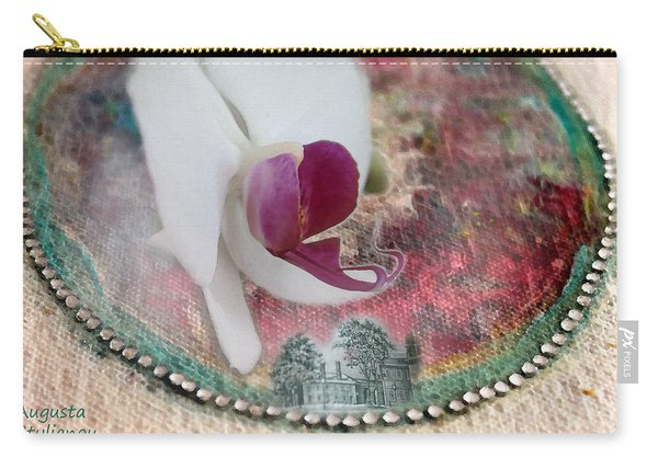 white Orchid on a Landscape Carry-all Pouch
