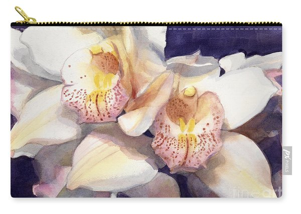 White Orchids Watercolor Carry-all Pouch