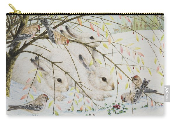 White Rabbits Carry-all Pouch