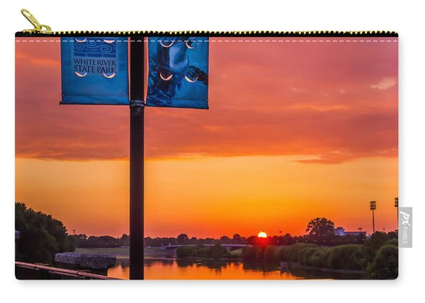 White River Sunset Carry-all Pouch