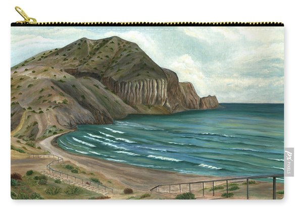 Carry-all Pouch featuring the painting White Rock's Beach by Angeles M Pomata