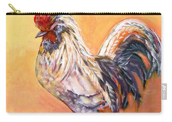 White Rooster Carry-all Pouch