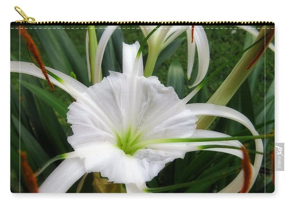 White Spider Lily Flower Carry-all Pouch