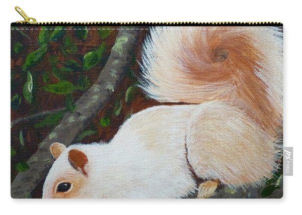 White Squirrel Of Sooke Carry-all Pouch