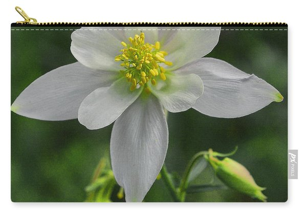 Carry-all Pouch featuring the digital art White Star Flower by Mae Wertz
