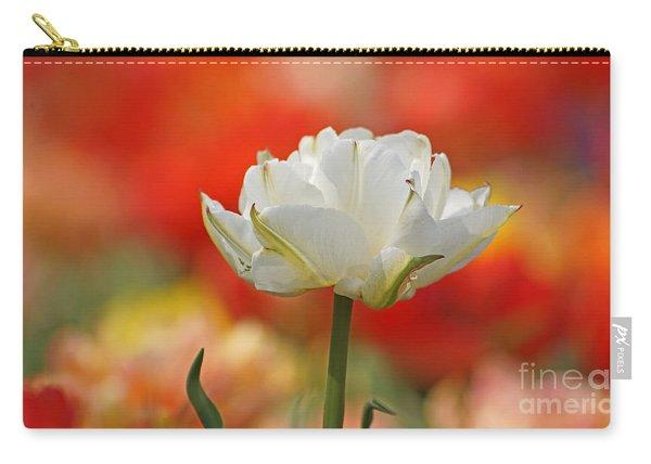 White Tulip Weisse Gefuellte Tulpe Carry-all Pouch