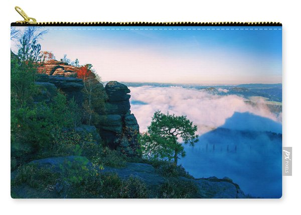 White Wafts Of Mist Around The Lilienstein Carry-all Pouch