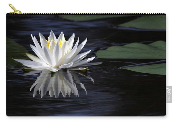 White Water Lily Left Carry-all Pouch