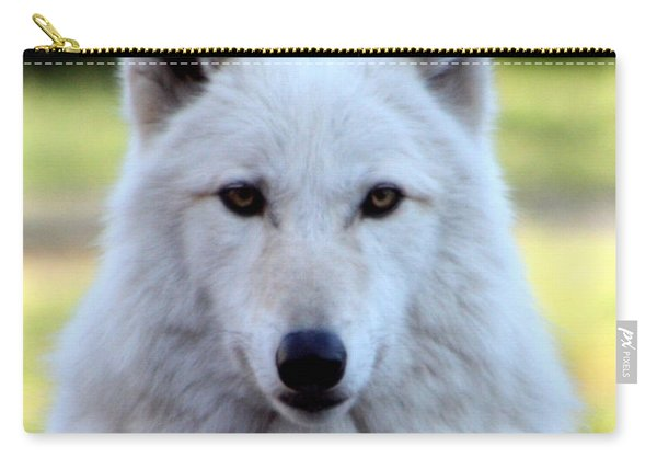 White Wolf Close Up Carry-all Pouch
