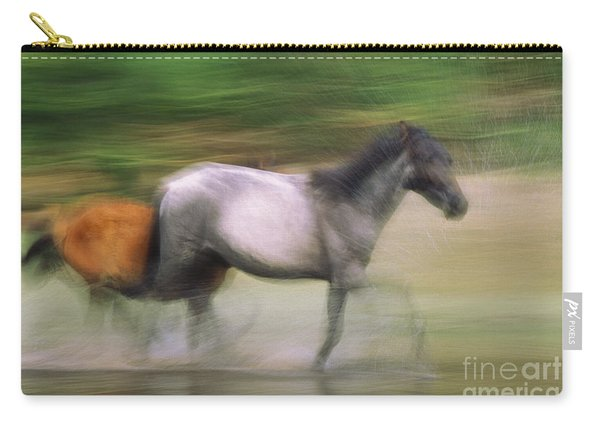 Wild Horse Running Carry-all Pouch