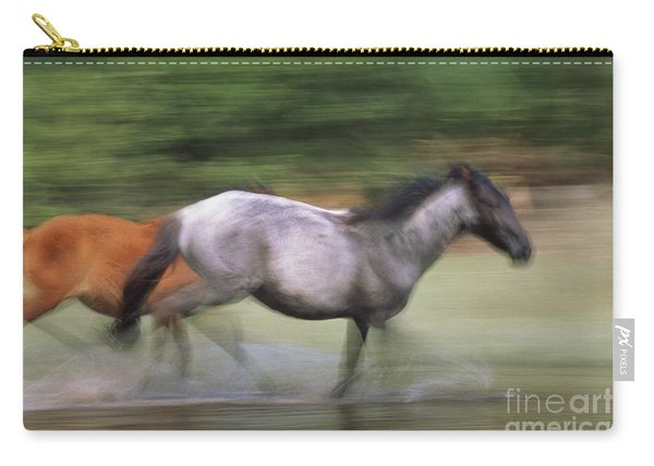 Wild Horses Running Carry-all Pouch
