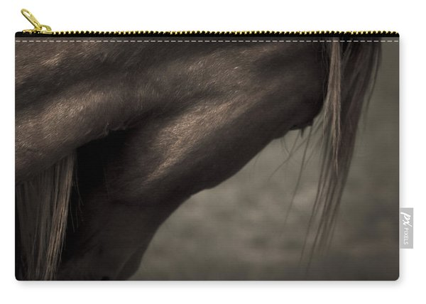 Carry-all Pouch featuring the photograph Wild Mustangs Of New Mexico 11 by Catherine Sobredo