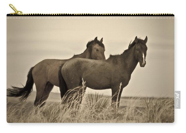 Carry-all Pouch featuring the photograph Wild Mustangs Of New Mexico 3 by Catherine Sobredo