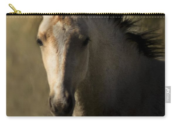 Carry-all Pouch featuring the photograph Wild Mustangs Of New Mexico 35 by Catherine Sobredo