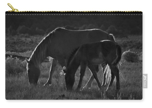 Carry-all Pouch featuring the photograph Wild Mustangs Of New Mexico 7 by Catherine Sobredo
