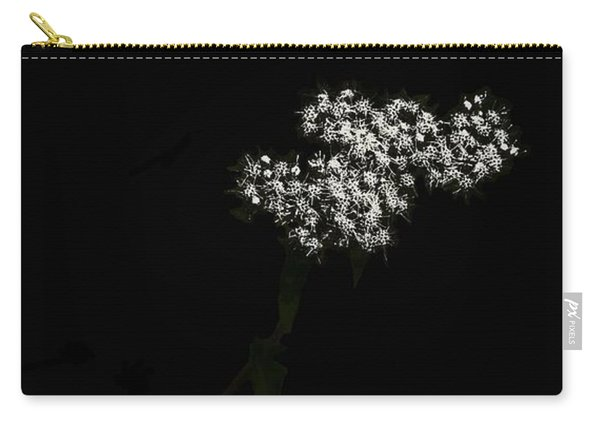 Wildflower In Black Carry-all Pouch