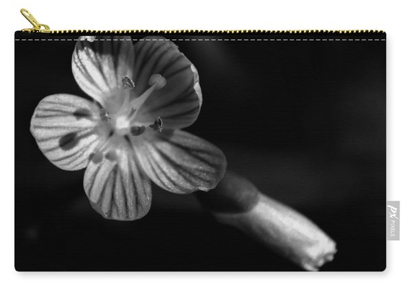 Wildflower In Black N White Carry-all Pouch