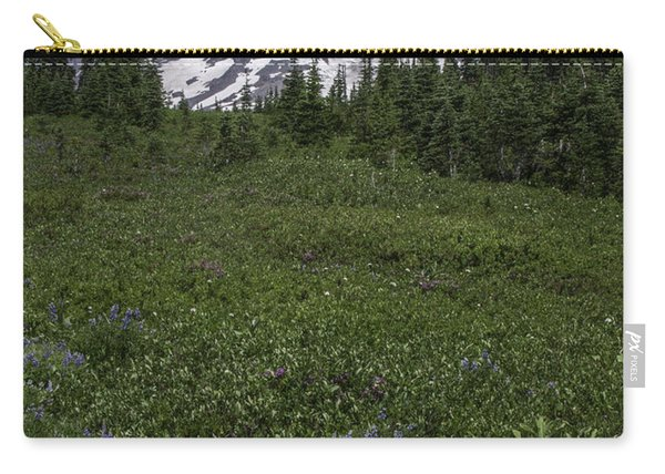 Wildflowers And Mt Rainier Summit Carry-all Pouch