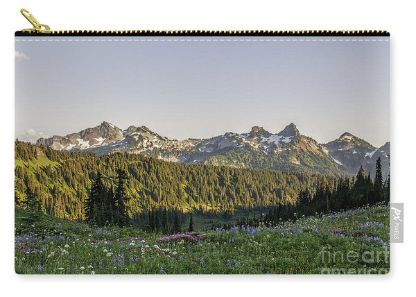 Wildflowers And The Tatoosh Range Carry-all Pouch