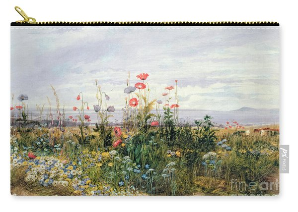 Wildflowers With A View Of Dublin Dunleary Carry-all Pouch
