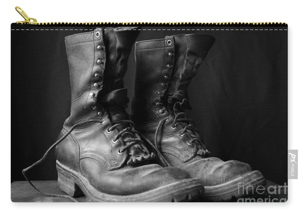 Wildland Fire Boots Still Life Carry-all Pouch