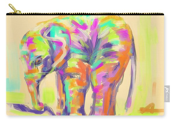 Wildlife Baby Elephant Carry-all Pouch