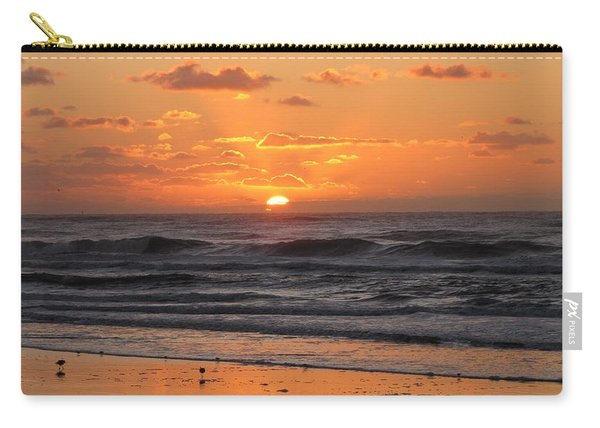 Wildwood Beach Here Comes The Sun Carry-all Pouch