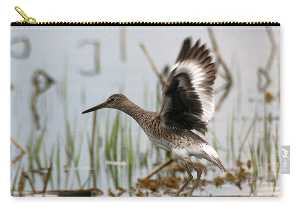 Willet Taking Flight Carry-all Pouch