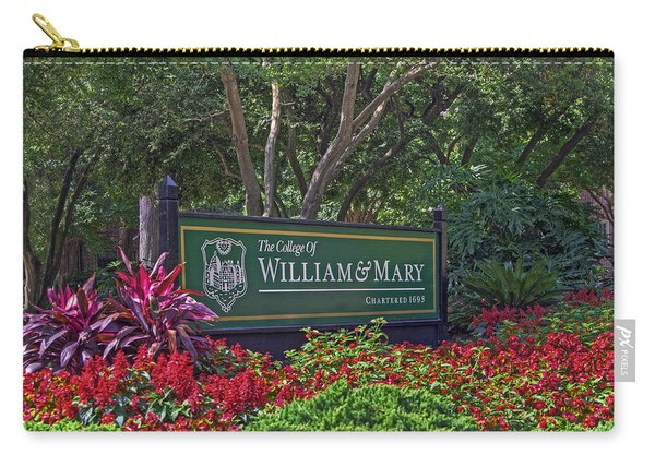 William And Mary Welcome Sign Carry-all Pouch