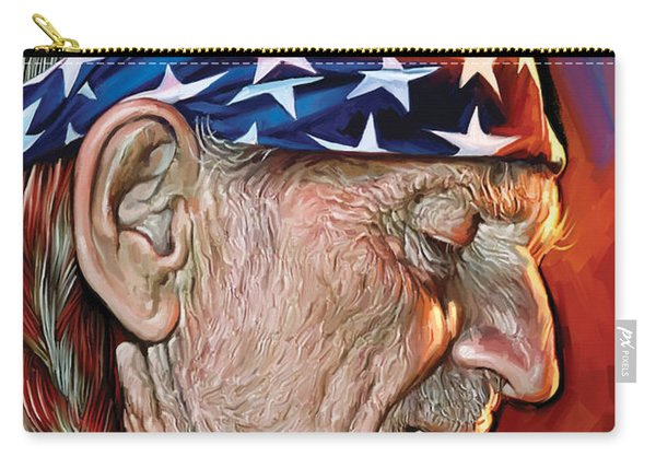 Willie Nelson Artwork Carry-all Pouch