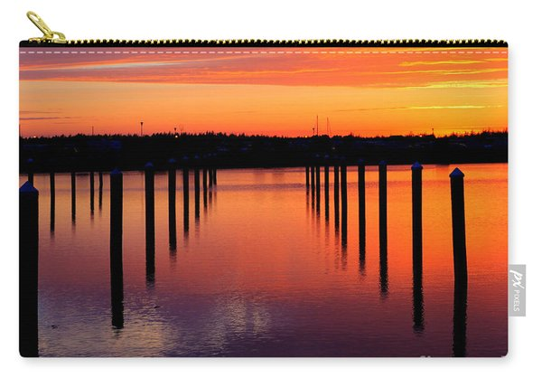 Carry-all Pouch featuring the photograph Winchester Bay Sunset by Bill Gabbert