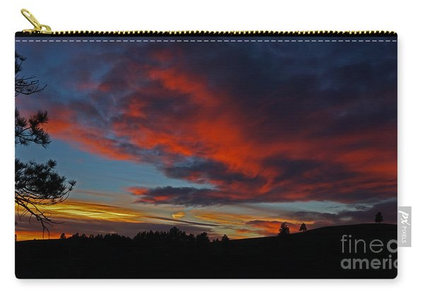 Carry-all Pouch featuring the photograph Black Hills Sunset by Bill Gabbert