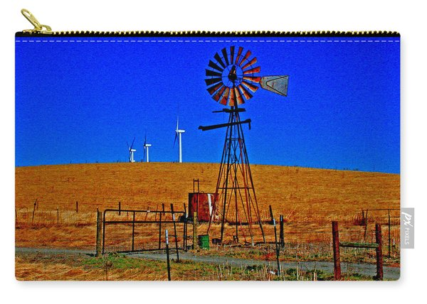 Wind Energy Yields Water And Power Carry-all Pouch